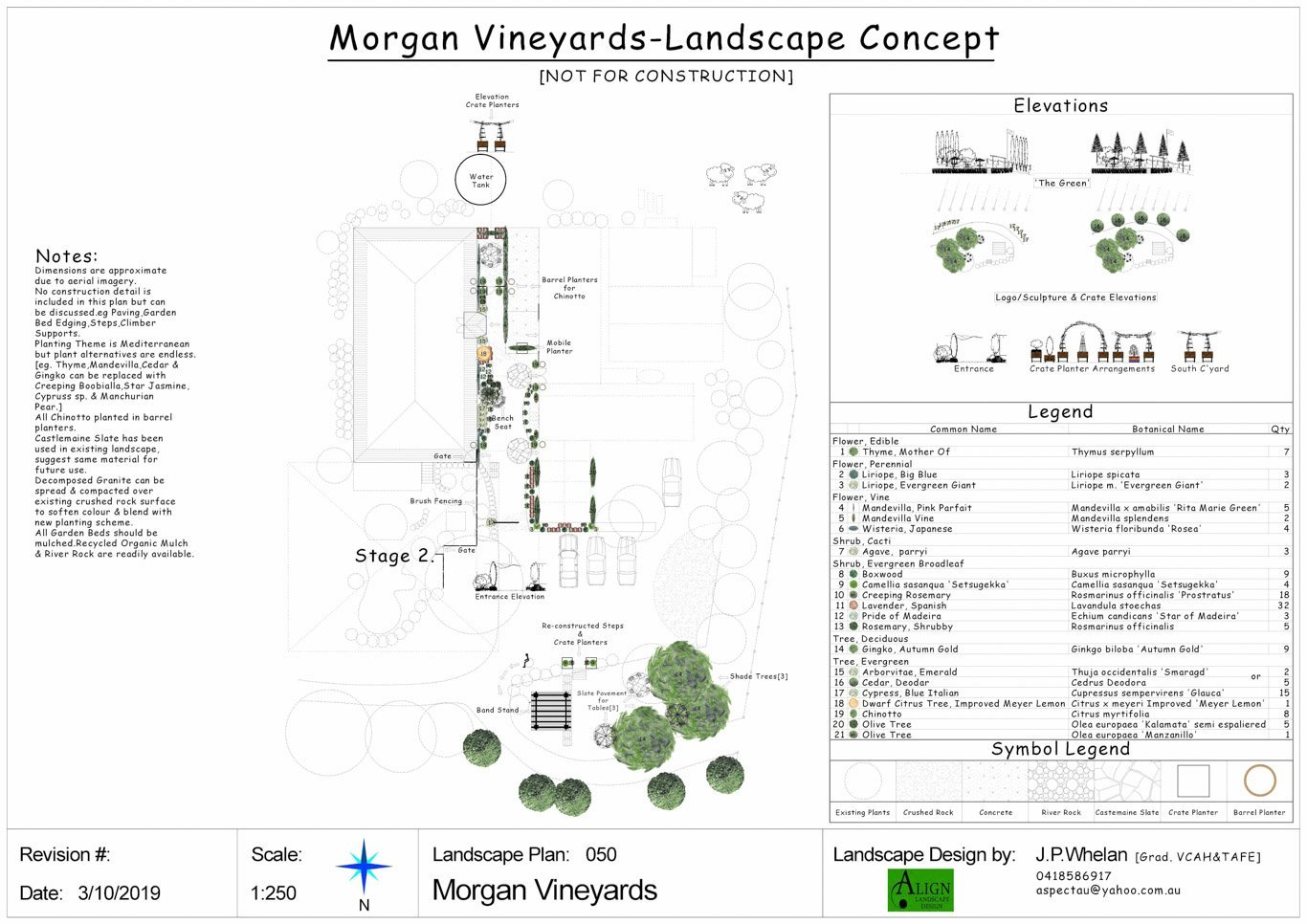 Mount Evelyn Landscape Designer John Whelan Plans Morgan Vineyards